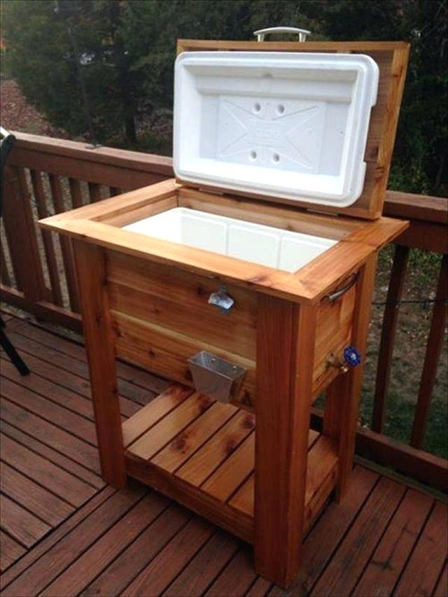 ice chest coolers on stands pallet wood igloo cooler stand wooden pallet cooler design to make